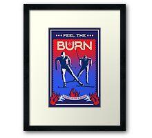 Feel the Burn cross country ski Framed Print