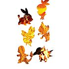 Fire Type Starters  by Gage White