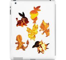 Fire Type Starters  iPad Case/Skin