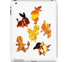 Fire Type Starters  iPad Case/Skin