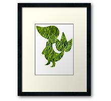 Snivy used Vine Whip Framed Print