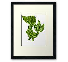 Snivy used Vine Whip Framed Print