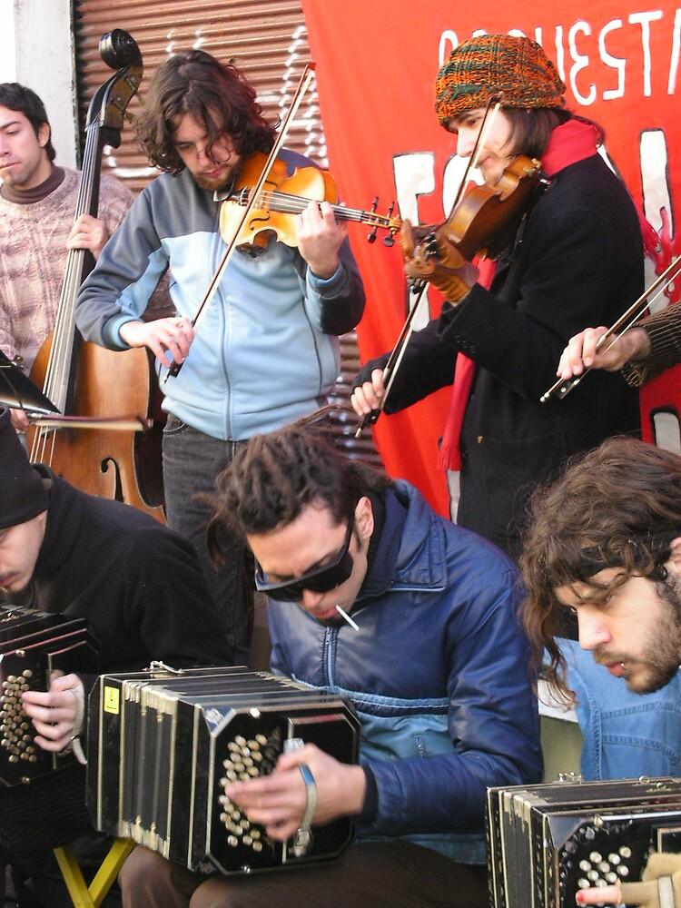 Bandoneon Busk Buenos Aires by Ezizza