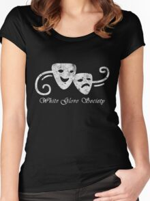 White Glove Society Logo (Grungy Version) Women's Fitted Scoop T-Shirt
