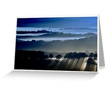 Blues at Sunrise Greeting Card