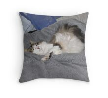 Keito, the Boneless cat Throw Pillow
