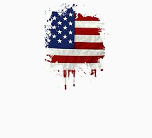 United States Flag Paint Splatter Unisex T-Shirt