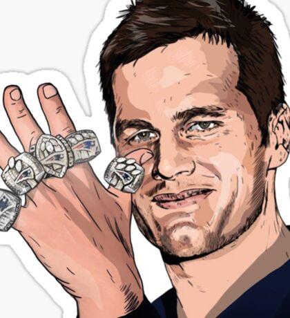 Tom Brady - Greatest of All Time Sticker