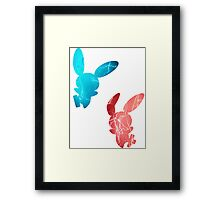 Plusle and Minun used Spark Framed Print