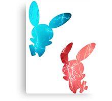 Plusle and Minun used Spark Canvas Print