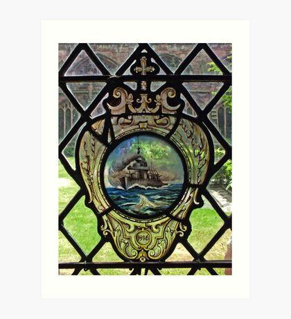 Battleship Window Art Print