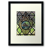 Battleship Window Framed Print