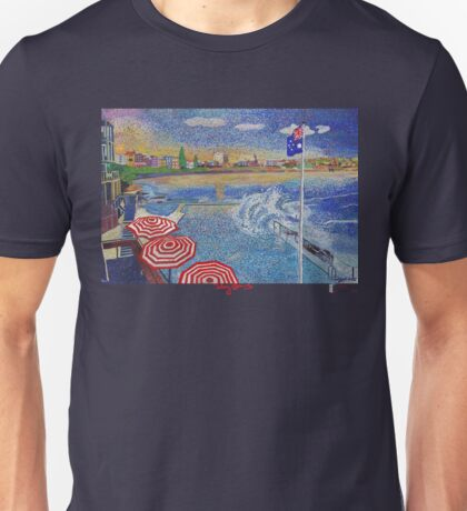 Bondi Icebergs painting  (clothing edition) Unisex T-Shirt