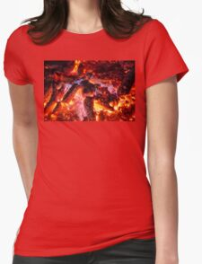Fire #1 Womens Fitted T-Shirt