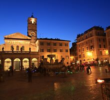 Santa Maria in Trastevere in Rome by iristudiophoto