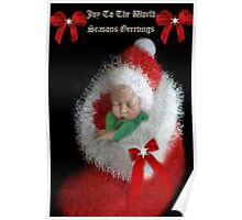 ☃ ☃ JOY TOO THE WORLD GREETING CARD VERSION TWO WITH TEXT PICTURE AND OR CARD☃ ☃ Poster