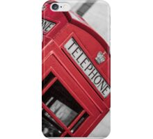 London Red Telephone Booth iPhone Case/Skin