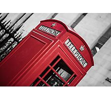 London Red Telephone Booth Photographic Print