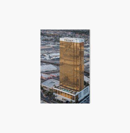 Aerial view of Trump International Hotel Las Vegas, Nevada, USA Art Board