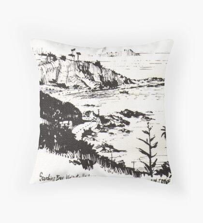 Scorching Bay, Wellington Harbour, New Zealand Throw Pillow