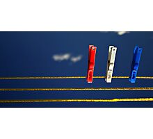 Pegs in Space Photographic Print