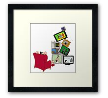 Too many films Framed Print