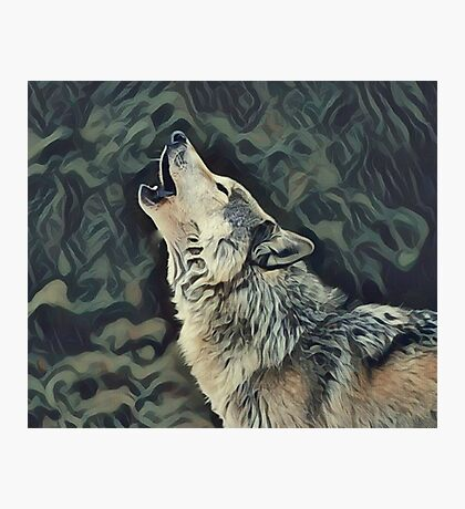 A Wolf Call Photographic Print