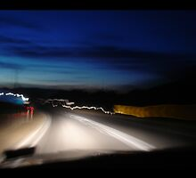 road trip to Mount Beauty by night by sasufi