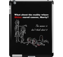 Rick and Morty kill themselves in white iPad Case/Skin