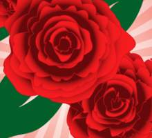 Red roses 2 Sticker