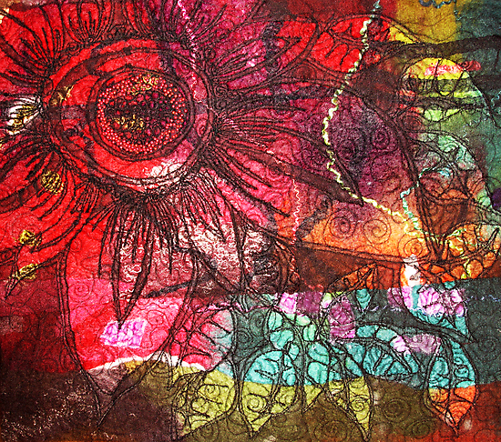 Felt Coloured Wall Flower by fifelt