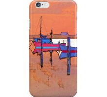 Magical reflection of a small dinghy dory boats iPhone Case/Skin