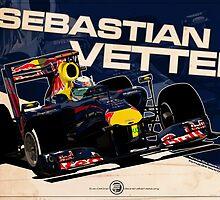 Sebastian Vettel - F1 2010 by Evan DeCiren