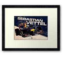 Sebastian Vettel - F1 2010 Framed Print