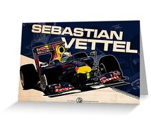 Sebastian Vettel - F1 2010 Greeting Card