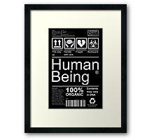 Human Being - Dark Framed Print