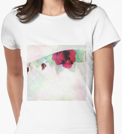 Red roses 5 Womens Fitted T-Shirt