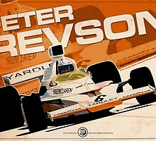 Peter Revson - F1 1973 by Evan DeCiren
