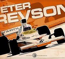 Peter Revson - F1 1973 by Evan DeCiren