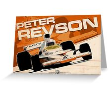 Peter Revson - F1 1973 Greeting Card