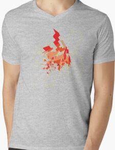 Explode Mens V-Neck T-Shirt