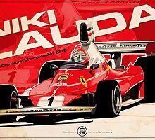 Niki Lauda - F1 1976 by Evan DeCiren