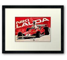 Niki Lauda - F1 1976 Framed Print