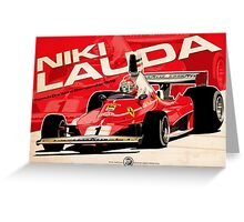 Niki Lauda - F1 1976 Greeting Card