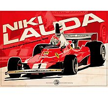 Niki Lauda - F1 1976 Photographic Print