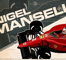 Nigel Mansell - F1 1990 by Evan DeCiren