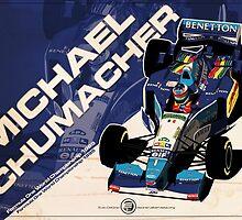 Michael Schumacher - F1 1995 by Evan DeCiren