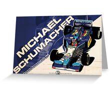 Michael Schumacher - F1 1995 Greeting Card