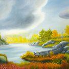 Autumnal landscape by Veikko  Suikkanen