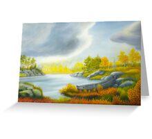 Autumnal landscape Greeting Card